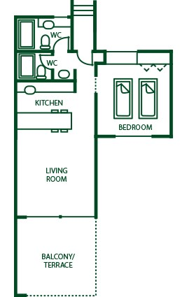 Suite 1 Bedroom Plan